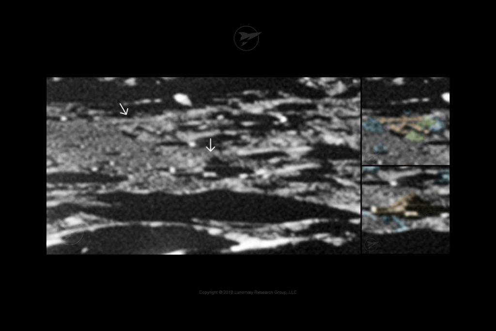 Example of possible structures on the Moon